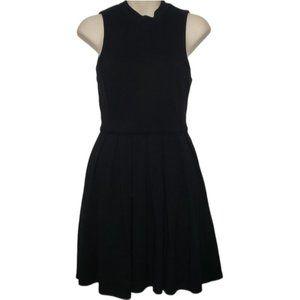 ARITZIA TALULA black pleat front skater dress 6